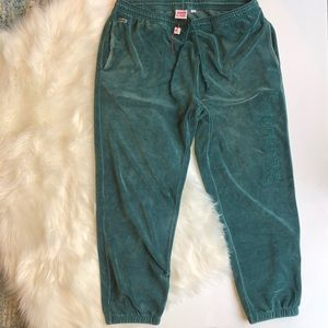 Supreme x Lacoste Teal Velour Track Pants